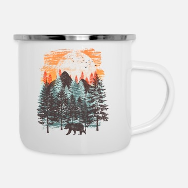 Collections Paysage forestier (ours) - Tasse émaillée