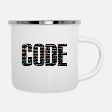 Code code - Emaille mok