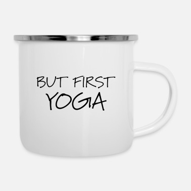 But First Yoga Sports Meditation Gift Idea - Enamel Mug