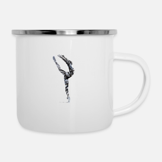 Motion Mugs & Drinkware - Ballet dance movement expression gift - Enamel Mug white