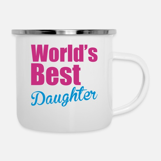 Daughter Mugs & Drinkware - Daughter - Enamel Mug white