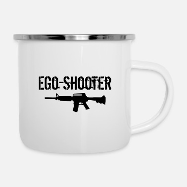 Ego Ego Shooter lettering - Tazza smaltata