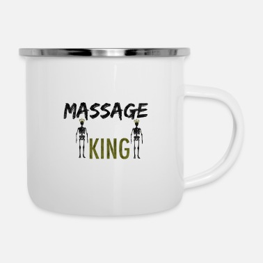 Massage King Masseur Physio - Emaille-Tasse
