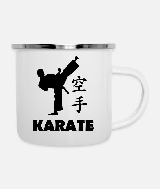 Karate Mugs & Drinkware - karate - Enamel Mug white