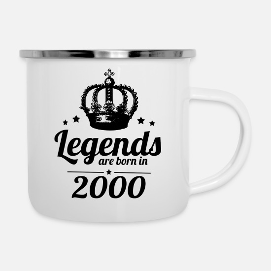 Birthday Mugs & Drinkware - Legends 2000 - Enamel Mug white