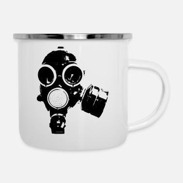 Gas GAS MASK / rock n roll T-SHIRT - Emaille mok