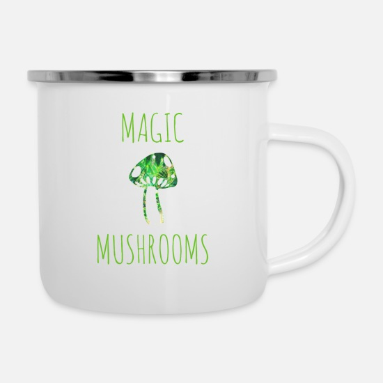 Magic Mugs & Drinkware - Magic mushrooms magic mushrooms - Enamel Mug white