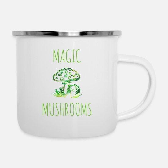 Magic Mugs & Drinkware - Magic mushrooms Magic mushrooms Fly mushrooms - Enamel Mug white