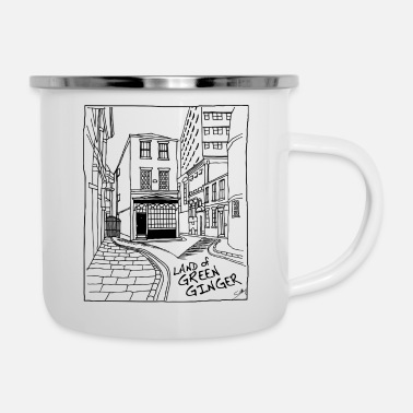City Of Hull The Land of Green Ginger, Hull - Enamel Mug