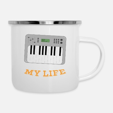 Synthesizer Synthesizer Changed My Life - Enamel Mug