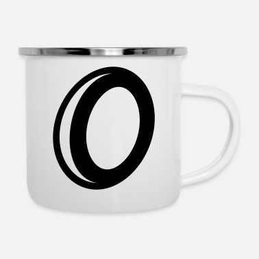 0 Decorated number 0 zero - Enamel Mug