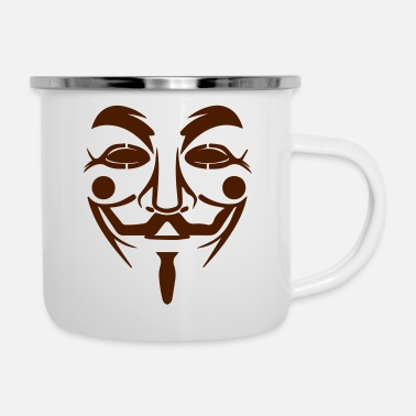 Guy Fawkes mask - Enamel Mug