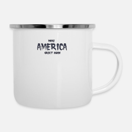 Funny Mugs & Drinkware - Make America Great Again - Enamel Mug white