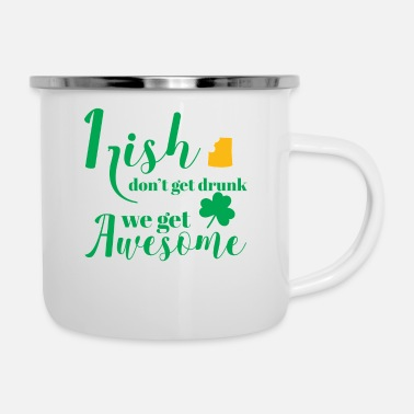 Day St Patricks Day - Irish - Beer - Funny - Gift - Emaljekopp
