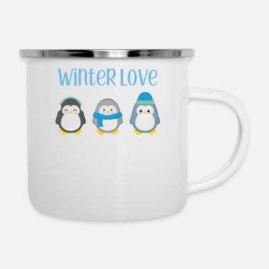 Winter Penguin - Winter - gift - Sweet - Penguins - Emaille mok
