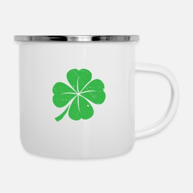 Day Lucky Charm Shamrock St Patricks Day T-Shirt - Enamel Mug