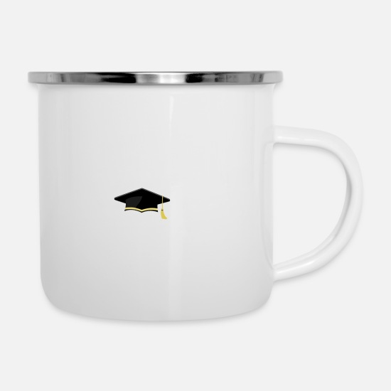 High School Senior Mugs & Drinkware - Senior Class of 2018 Graduation - Enamel Mug white
