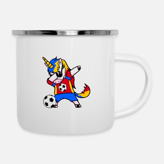 Birthday Mugs & Drinkware - Unicorn national team World Cup - Enamel Mug white