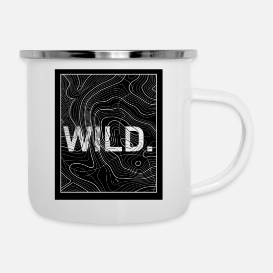 Outdoor Mugs & Drinkware - Wild. - Enamel Mug white