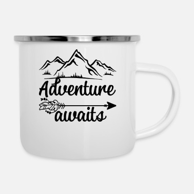 Abitur Adventure awaits. - Emaille-Tasse