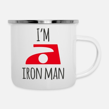 Ironia Iron Man - Tazza smaltata