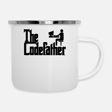 Css The Codefather Programmierer PC Coding Geschenk - Emaille-Tasse