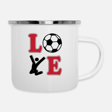 Football Love Football Football - Emaille mok