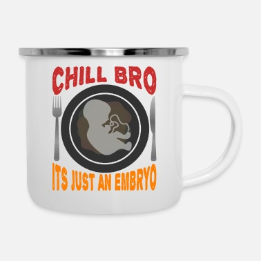 Provocation Black humor provocative - Enamel Mug