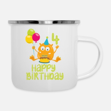 4th Birthday 4th birthday, 4th birthday - Enamel Mug