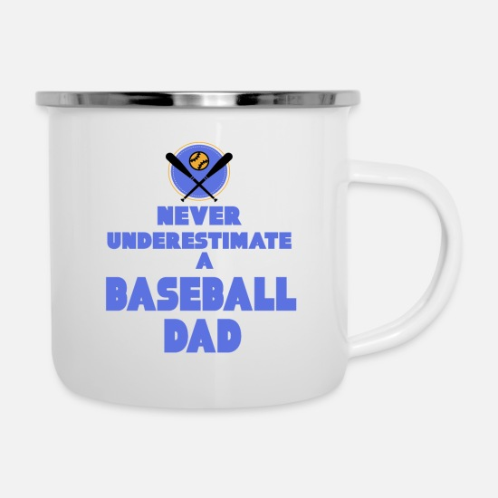 Sports Mugs & Drinkware - Baseball - Baseball Dad - Enamel Mug white