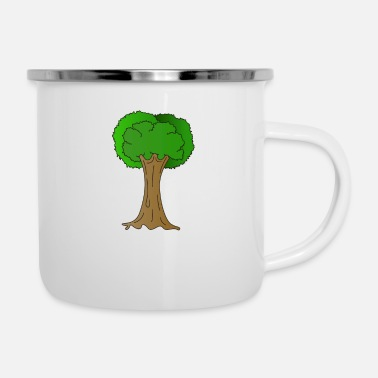 Enviromental Beautiful Nature Tree Tshirt Design Hugger Tree - Enamel Mug