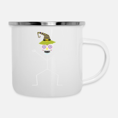 Stick Man HALLOWEEN SUGAR SKULL STICK MAN DESIGN - Enamel Mug