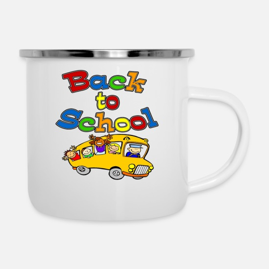 Back To School Mugs & Drinkware - back to school - Enamel Mug white