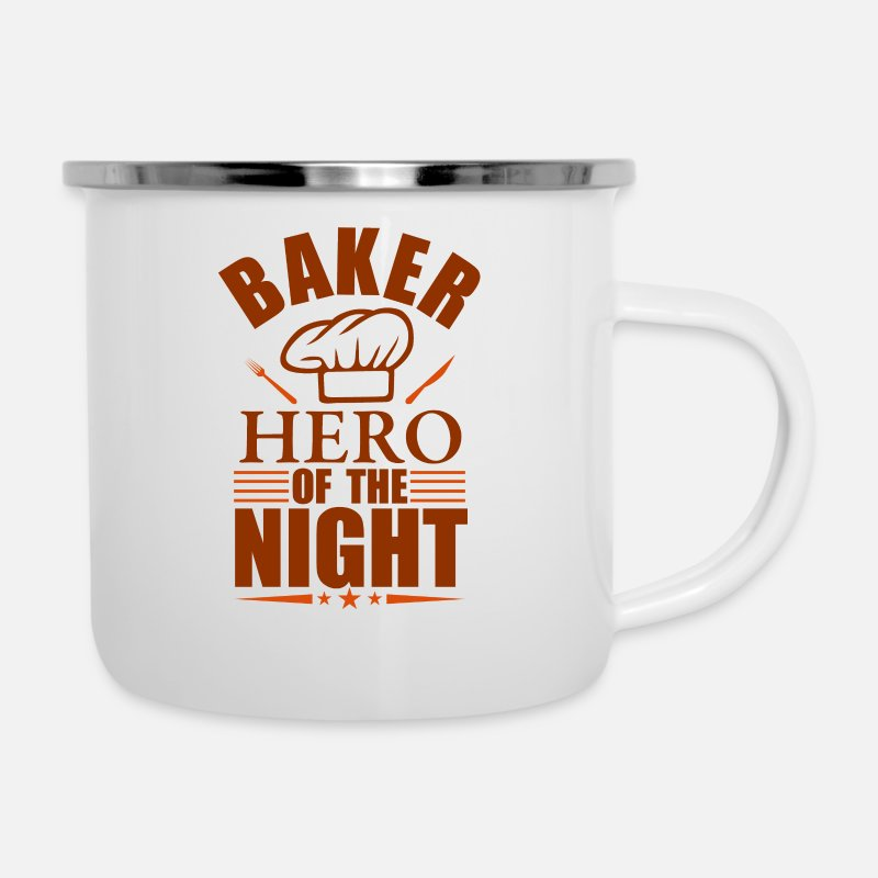 Gift Idea Mugs & Drinkware - Baker Heroes Of The Night - Enamel Mug white