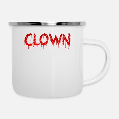 Sanguinante Carattere sanguinante Clown (0154) - Tazza smaltata