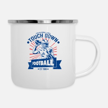 American Football College American Football Touchdown - Emaljmugg