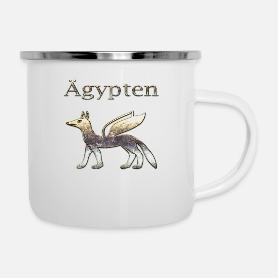 Archaeology Mugs & Drinkware - Egypt 24th - Enamel Mug white