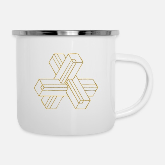 3d Mugs & Drinkware - 3d cross - Enamel Mug white