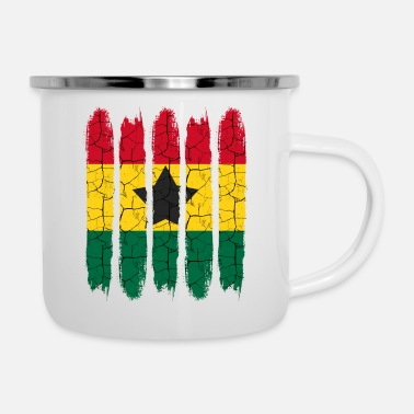 National Cadeau national Accra moderne Ghana National Colors - Tasse émaillée