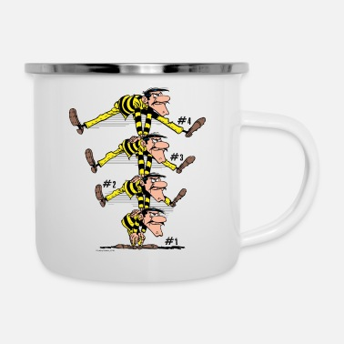 Officialbrands Lucky Luke Die Dalton Brüder - Emaille-Tasse