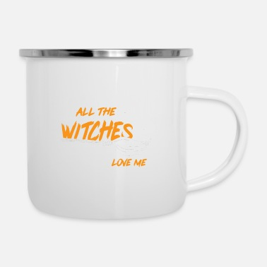 All The Witches Love Me Halloween-feestnacht - Emaille mok