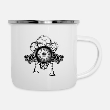 Clock Wonderful Time Clock Time 2019 Cadeau du Nouvel An - Tasse émaillée