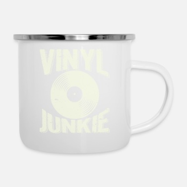 Vinyl Camiseta de Vinyl Junkie Lover Old Record Player - Taza esmaltada