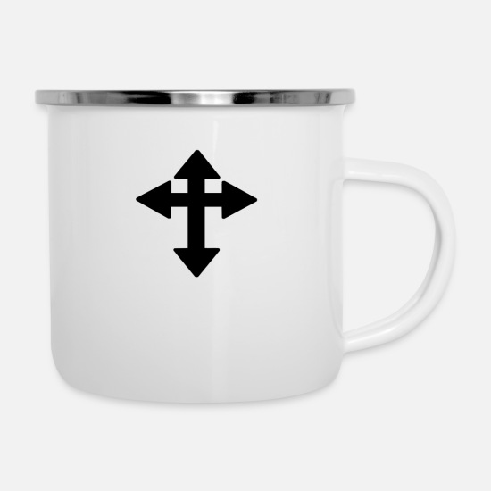 Cross Christianity Mugs & Drinkware - cross - Enamel Mug white