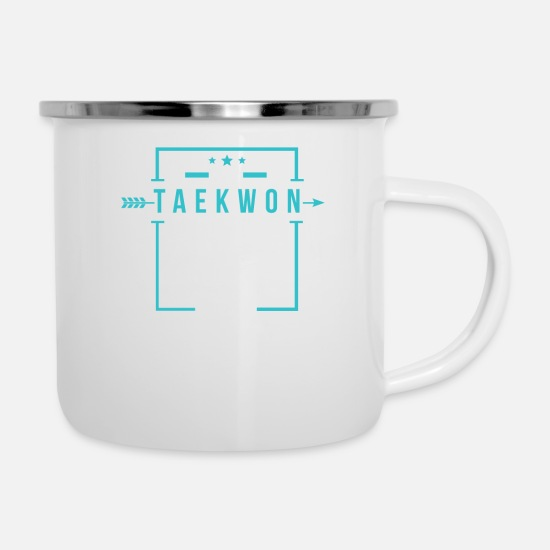 Tae Kwon Do Tassen & Becher - Taekwondo Do it - Emaille-Tasse Weiß