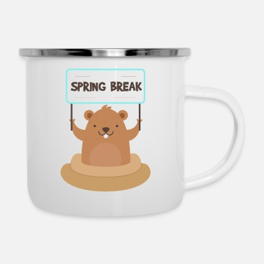 Spring Break Spring Break Groundhog - Emaille mok