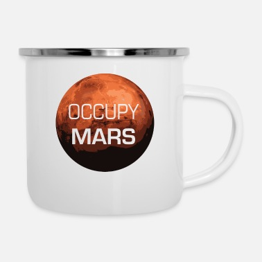 Occupy Uppta Mars - Planet - Emaljmugg