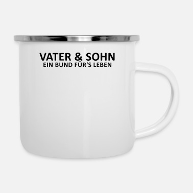 Bond Father and son bond for life - Enamel Mug