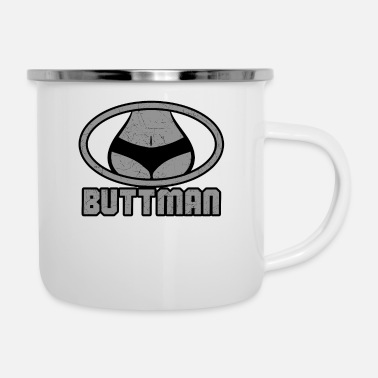 Shape Buttman Logo / Funny Hilarious Saying / Super Hero / - Emaljmugg