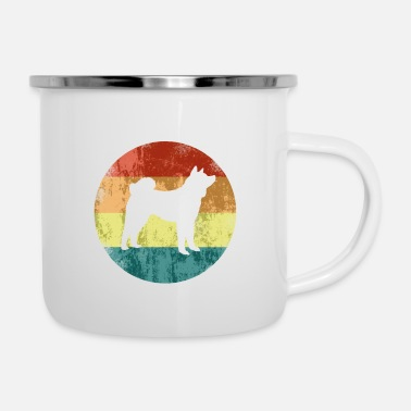 Oom Akita Inu Colors Logo Vintage Dog Love Gift - Emaille mok